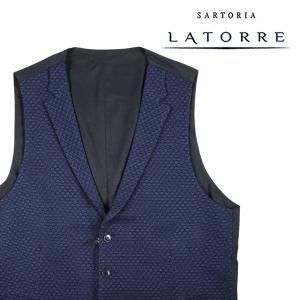 【52】 Sartoria Latorre サルトリア・ラトーレ ジレ メンズ ブルー 青 並行輸入品 ベスト 大きいサイズ|utsubostock