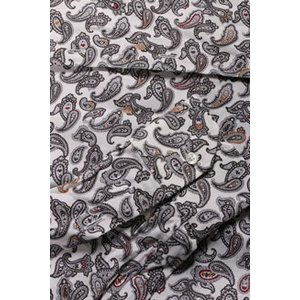 【42】 ETRO エトロ 長袖シャツ メンズ ペイズリー グレー 灰色 並行輸入品 カジュアルシャツ 大きいサイズ|utsubostock|03