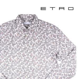 【44】 ETRO エトロ 長袖シャツ メンズ ペイズリー グレー 灰色 並行輸入品 カジュアルシャツ 大きいサイズ|utsubostock
