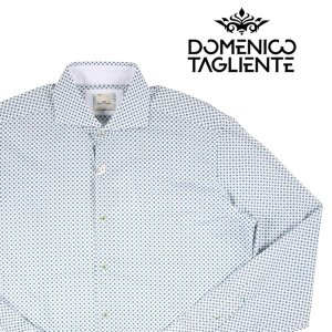 Domenico Tagliente 長袖シャツ メンズ 41/XL グリーン 緑 ドメニコ・タリエンテ 並行輸入品|utsubostock