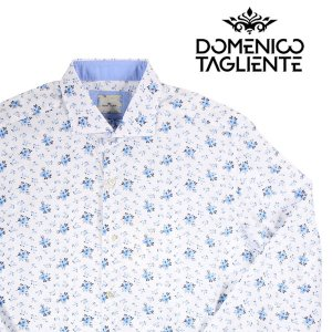 Domenico Tagliente 長袖シャツ メンズ 42/2XL ホワイト 白 ドメニコ・タリエンテ 大きいサイズ 並行輸入品|utsubostock