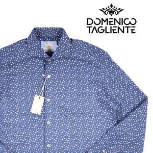 【42】 Domenico Tagliente ドメニコ・タリエンテ 長袖シャツ メンズ 花柄 ネイビー 紺 並行輸入品 カジュアルシャツ 大きいサイズ|utsubostock