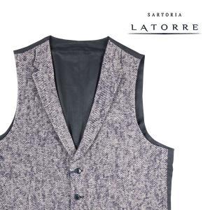 【52】 Sartoria Latorre サルトリア・ラトーレ ジレ メンズ 秋冬 ネイビー 紺 並行輸入品 ベスト 大きいサイズ|utsubostock