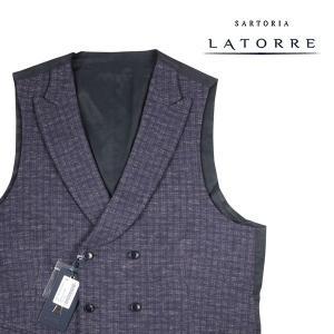 【52】 Sartoria Latorre サルトリア・ラトーレ ジレ メンズ 秋冬 ブルー 青 並行輸入品 ベスト 大きいサイズ|utsubostock