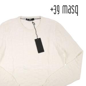 【M】 +39 masq マスク 丸首セーター メンズ ホワイト 白 並行輸入品 ニット|utsubostock