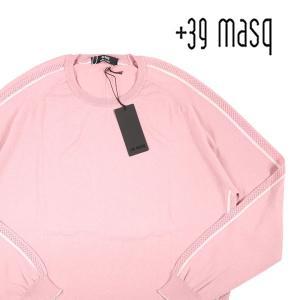 【XL】 +39 masq マスク 丸首セーター メンズ ピンク 並行輸入品 ニット|utsubostock