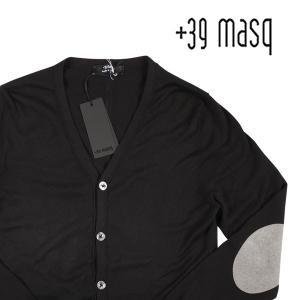 【S】 +39 masq マスク カーディガン メンズ ブラック 黒 並行輸入品 ニット|utsubostock