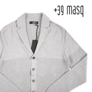 +39 masq カーディガン メンズ L/48 グレー 灰色 マスク 並行輸入品|utsubostock