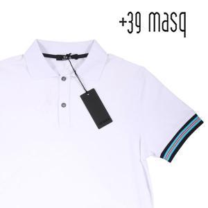 +39 masq 半袖ポロシャツ メンズ 春夏 M/46 ホワイト 白 マスク 並行輸入品|utsubostock