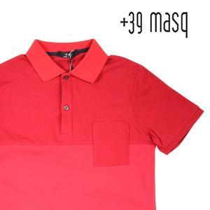 【XXL】 +39 masq マスク 半袖ポロシャツ メンズ 春夏 レッド 赤 並行輸入品 トップス 大きいサイズ|utsubostock
