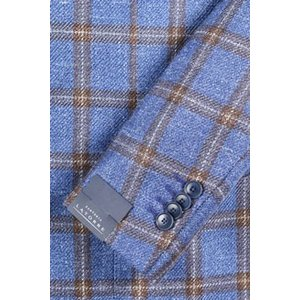 【54】 Sartoria Latorre サルトリア・ラトーレ ジャケット メンズ シルク混 チェック ブルー 青 並行輸入品 アウター トップス 大きいサイズ utsubostock 03