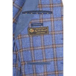 【54】 Sartoria Latorre サルトリア・ラトーレ ジャケット メンズ シルク混 チェック ブルー 青 並行輸入品 アウター トップス 大きいサイズ utsubostock 06