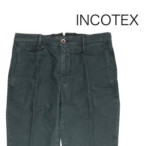 INCOTEX コットンパンツ 40592.6307692308 green 31 15634【A15635】 インコテックス|utsubostock