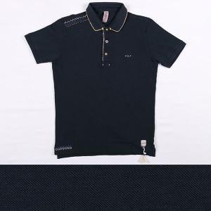 BOB 半袖ポロシャツ メンズ 春夏 XL/50 ネイビー 紺 RICKY ボブ 並行輸入品|utsubostock