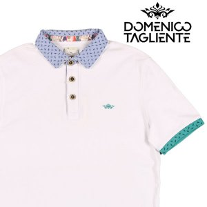Domenico Tagliente 半袖ポロシャツ メンズ 春夏 M/46 ホワイト 白 ドメニコ・タリエンテ 並行輸入品|utsubostock