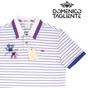Domenico Tagliente 半袖ポロシャツ メンズ 春夏 L/48 ホワイト 白 ドメニコ・タリエンテ 並行輸入品|utsubostock
