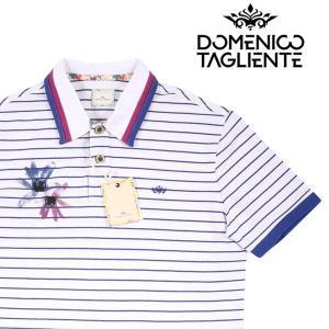 【XL】 Domenico Tagliente ドメニコ・タリエンテ 半袖ポロシャツ メンズ 春夏 ボーダー ホワイト 白 並行輸入品 トップス|utsubostock