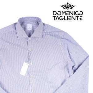 Domenico Tagliente 長袖シャツ メンズ 42/2XL ブルー 青 ドメニコ・タリエンテ 大きいサイズ 並行輸入品|utsubostock