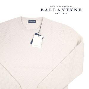 Ballantyne 丸首セーター メンズ 秋冬 54/3XL ホワイト 白 H2P00014W18 バランタイン 大きいサイズ 並行輸入品|utsubostock
