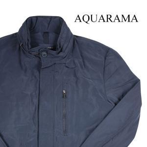 AQUARAMA ブルゾン メンズ 48/L ネイビー 紺 アクアラマ 並行輸入品|utsubostock