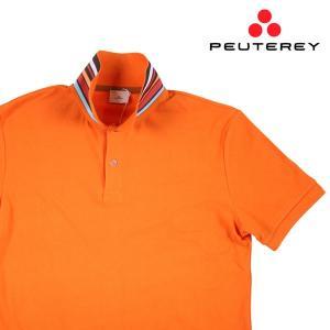 【M】 PEUTEREY ピューテリー 半袖ポロシャツ 468PEUTEREY メンズ 春夏 オレンジ 並行輸入品 トップス|utsubostock