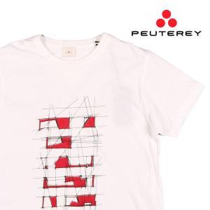 【L】 PEUTEREY ピューテリー Uネック半袖Tシャツ A82UBANIN G メンズ 春夏 ホワイト 白 並行輸入品 トップス|utsubostock