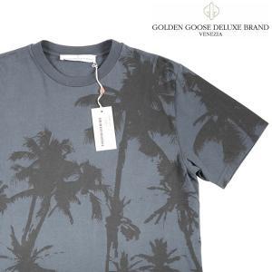 GOLDEN GOOSE DELUXE BRAND VENEZIA Uネック半袖Tシャツ メンズ 春夏 S/44 ネイビー 紺 ゴールデングースデラックスブランド・ベネチア 並行輸入品|utsubostock
