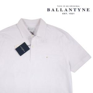BALLANTYNE 半袖ポロシャツ メンズ 春夏 XXL/52 ホワイト 白 IMW037OCTHJ10008 バランタイン 大きいサイズ 並行輸入品|utsubostock
