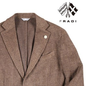 FRADI ジャケット メンズ 春夏 48/L ブラウン 茶 リネン混 フラディ 並行輸入品|utsubostock