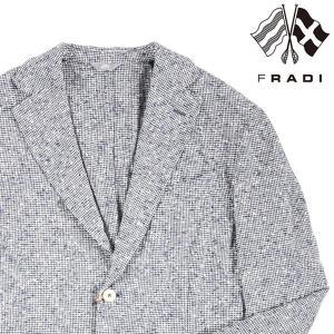 FRADI ジャケット メンズ 春夏 52/2XL ネイビー 紺 リネン混 フラディ 大きいサイズ 並行輸入品|utsubostock