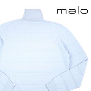malo タートルネックセーター メンズ 秋冬 50/XL ブルー 青 カシミヤ100% マーロ 並行輸入品|utsubostock
