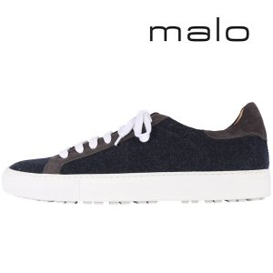 malo カシミヤ混 スニーカー UP1065/PPN53 navy 41 15935N【A15935】|utsubostock