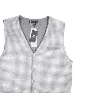 FALCONE ベスト メンズ 秋冬 M/46 グレー 灰色 カシミヤ混 ファルコーネ 並行輸入品|utsubostock