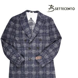 B SETTECENTO コート メンズ 秋冬 50/XL ネイビー 紺 ビーセッテチェント 並行輸入品|utsubostock