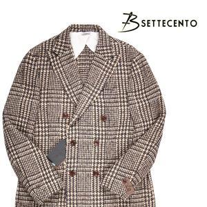 B SETTECENTO コート 923 /2754 brown 48【W15983】 ビーセッテチェント|utsubostock