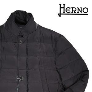HERNO ダウンジャケット メンズ 秋冬 52/2XL ブラック 黒 P10374U ヘルノ 大きいサイズ 並行輸入品|utsubostock