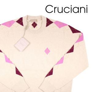 【48】 Cruciani クルチアーニ 丸首セーター メンズ 秋冬 カシミヤ100% アーガイル ベージュ 並行輸入品 ニット utsubostock