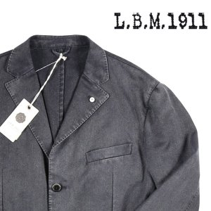 L.B.M.1911 ジャケット メンズ 54/3XL ブラック 黒 2881 エルビーエム 大きいサイズ 並行輸入品 utsubostock