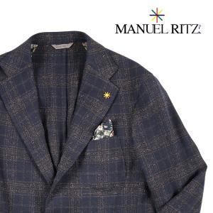 Manuel Ritz ジャケット メンズ 秋冬 50/XL ネイビー 紺 マニュエル リッツ 並行輸入品|utsubostock