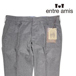 【34】 ENTRE AMIS アントレアミス パンツ メンズ 秋冬 グレー 灰色 並行輸入品 ズボン 大きいサイズ|utsubostock
