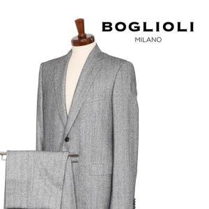 【50】 BOGLIOLI ボリオリ スーツ 91292A メンズ 秋冬 シルク混 グレー 灰色 並行輸入品|utsubostock