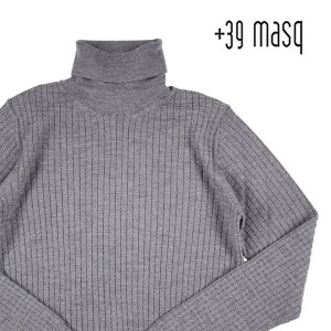 【XXXL】 +39 masq マスク タートルネックセーター メンズ 秋冬 グレー 灰色 並行輸入品 ニット 大きいサイズ utsubostock