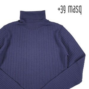 +39 masq タートルネックセーター メンズ 秋冬 L/48 ネイビー 紺 マスク 並行輸入品|utsubostock