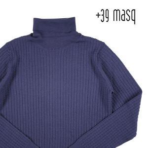 +39 masq タートルネックセーター メンズ 秋冬 M/46 ネイビー 紺 マスク 並行輸入品|utsubostock