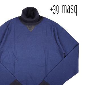 【S】 +39 masq マスク タートルネックセーター メンズ 秋冬 ネイビー 紺 並行輸入品 ニット|utsubostock