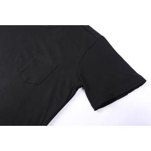 【L】 Daniele Alessandrini ダニエレアレッサンドリーニ Uネック半袖Tシャツ メンズ ブラック 黒 並行輸入品 トップス|utsubostock|03