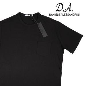 【S】 Daniele Alessandrini ダニエレアレッサンドリーニ Uネック半袖Tシャツ メンズ ブラック 黒 並行輸入品 トップス|utsubostock