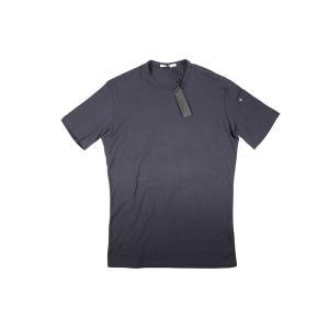 【L】 Daniele Alessandrini ダニエレアレッサンドリーニ Uネック半袖Tシャツ メンズ ネイビー 紺 並行輸入品 トップス|utsubostock|02