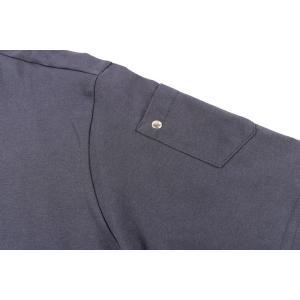 【L】 Daniele Alessandrini ダニエレアレッサンドリーニ Uネック半袖Tシャツ メンズ ネイビー 紺 並行輸入品 トップス|utsubostock|04