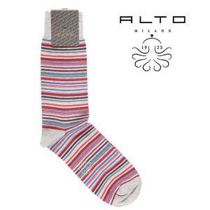 ALTO MILANO 靴下 メンズ レッド 赤 アルト 並行輸入品|utsubostock